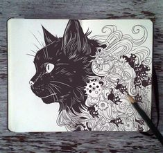 #80+Familiar+Black+Cat+by+365-DaysOfDoodles.deviantart.com+on+@deviantART