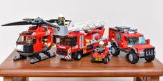 Lego City Fire Truck, Lego Truck, Fire Trucks, Lego Ambulance, Lego Fire, Lego Pictures, Brick Loft, Vader Star Wars, Cool Lego Creations