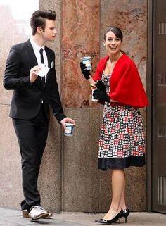 Lea Michele (Rachel Berry) and  Chris Colfer (Kurt).