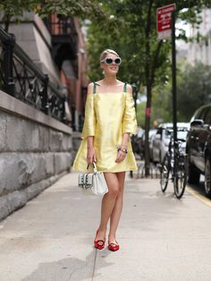 NYFW Street Style Day 5: Spring '15 is all about the shoulders — and this attendee got a head start on the trend.