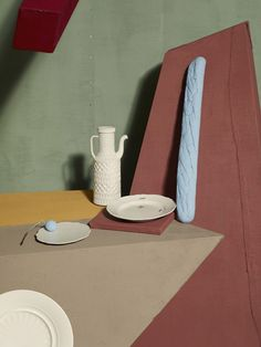 """""""De Chirico"""" Casa Da Abitare © Metz+Racine, Oh wow, I love this styling and the colors and the light and the photo and the props and well everything about this. Home Design, Design Art, Set Design, Nude Colors, Bokashi, Still Life Photos, Still Life Photography, Colour Schemes, Color Trends"""