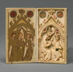 Nord francese (intaglio); Superiore renano (pittura) - Libretto con Scene della Passione - ca. 1300 (scultura); ca. 1310-1320 (pittura) -  avorio - The Metropolitan Museum of Art.