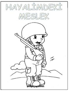 Meslekler 4 Year Old Activities, 4 Year Olds, Worksheets, Coloring Pages, Preschool, Banner, Hero, Templates, Quilts