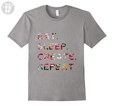 Eat Sleep Create Repeat Artist Creative Colorful Logo Shirt - Male Medium - Slate (*Amazon Partner-Link)