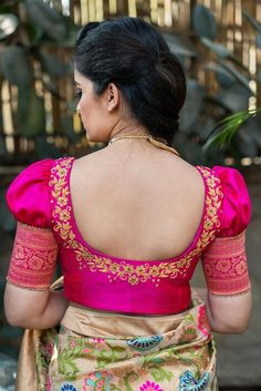 Ready to shop blouses house of blouse Pattu Saree Blouse Designs, Blouse Designs Silk, Designer Blouse Patterns, Bridal Blouse Designs, Pattern Blouses For Sarees, Kids Blouse Designs, Simple Blouse Designs, Stylish Blouse Design, Saris
