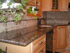 Baltic Brown Granite & Tile Backsplash