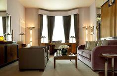 Love the warm tones and Art Deco design. Linley Suite at Claridges