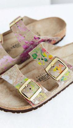 floral arizona sandals