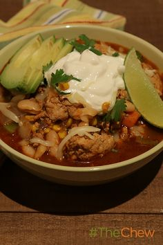 Tricia's turkey chili's got a spicy kick with poblano and jalepeno peppers.
