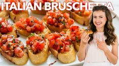 How to Make Italian BRUSCHETTA - Easy Appetizer - YouTube Italian Bruschetta Recipe, How To Make Bruschetta, Caprese Salad Recipe, Tomato Bruschetta, Appetizer Sandwiches, Appetizer Dips, Appetizer Recipes, Summer Party Appetizers, Roasted Tomato Salsa