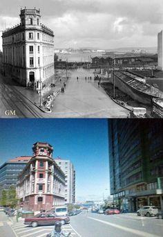 Antes y después de Fernández Latorre (fotos Camposa)