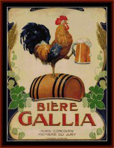 Bierre Gallia - Vintage Posters - Cross Stitch Collectibles fine art cross stitch pattern - Detail Page