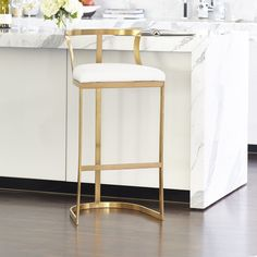Emerson Stool Brass - available in bar and counter height