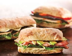 We offer a variety of gourmet sandwiches made with artisan Ciabatta bread, wraps, Panini sandwiches and our famous Cultures Healthy Club.