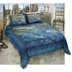Lord of the Sea Bedspread - New Age, Spiritual Gifts, Yoga, Wicca, Gothic, Reiki, Celtic, Crystal, Tarot at Pyramid Collection