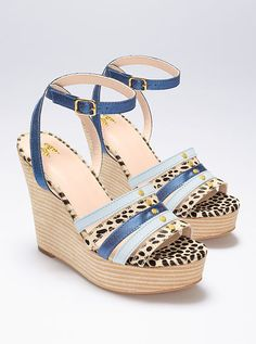 Strappy Wedge Sandal $29,99