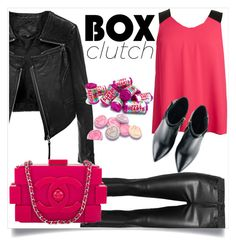 """Box clutch"" by chanlee-luv ❤ liked on Polyvore featuring moda, BB Dakota, Linea Pelle, Kim Kwang, Chanel, women's clothing, women's fashion, women, female y woman"