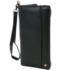 d47f120577 Alpine Swiss RFID Blocking Passport Case Leather Travel Organizer Wallet  Black     Check this