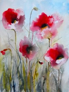 View Karin Johannesson's Artwork on Saatchi Art. Find art for sale at great prices from artists including Paintings, Photography, Sculpture, and Prints by Top Emerging Artists like Karin Johannesson. Watercolor Poppies, Watercolor Paintings, Watercolours, Pink Poppies, Watercolor Artists, Abstract Paintings, Oil Paintings, Landscape Paintings, Love Art