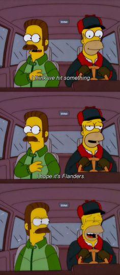 Flanders is Homer's Dinkleberg