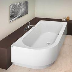 Hoesch Happy D bad rechts 180x80x45cm inbouw wit - 6486010 - Sanitairwinkel.nl