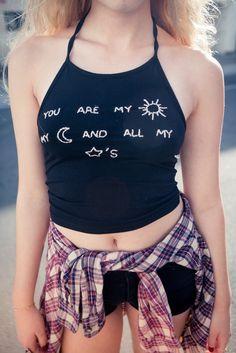 Brandy ♥ Melville | Sachi Sun, Moon and Stars Embroidery Halter
