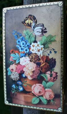 George W Horner Dainty Dinah Toffee Tin with by Tinternet on Etsy. Beautiful still life of garden flowers in great condition.