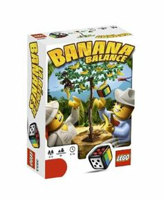 LEGO LGS Banana Balance 3853 by LEGO. $5.99. 49 pieces. A balancing game. 1 buildable LEGO® Dice. Includes 1 rule booklet and  building instructions. 2 to 4 players. From the Manufacturer                It's hot in the jungle and picking the best bananas is tricky work.  As the tree grows new leaves and bananas, use the monkey to help you collect the most fruit, being careful not to tip the tree over! A balancing game with plenty of monkeying around for 2-4 players...