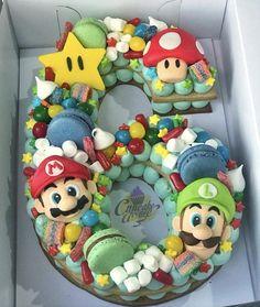 Baby boy birthday cake super mario new ideas Mario Birthday Cake, 6th Birthday Cakes, Super Mario Birthday, 6th Birthday Parties, Birthday Cake Kids Boys, Birthday Ideas, Boy Birthday Cupcakes, Dog Birthday, Super Mario Party
