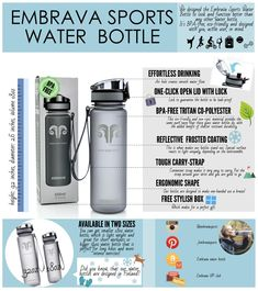 d3dfdcb8b3 Get to know our Embrava sports water bottles. They make perfect companion  for run, gym, hike or bike.