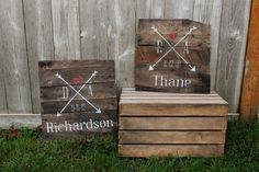 Rustic Arrows Monogram family name sign est established date