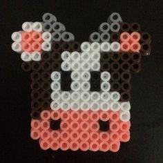Cow perler beads by nickoannette