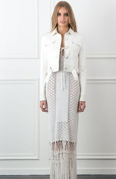 The Genna Cropped Leather Jacket from the Rachel Zoe Collection.