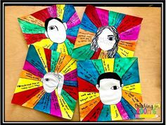 Wonder and Kindness Portraits- students write 15 ways they could show kindness in their lives.