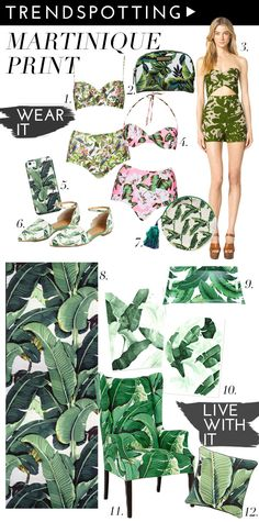 The sunny and tropical Martinique print will make you feel like Spring no matter where you are!