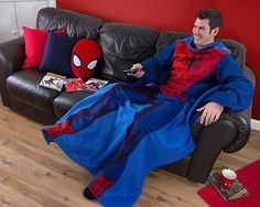 Marvel comics ultimate #spiderman city adult mens #sleeved #fleece blanket throw,  View more on the LINK: http://www.zeppy.io/product/gb/2/371301723684/