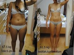 Great change !   Weight loss - before and after .   Exercise , diet, healty food and fitness