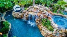 Luxury Swimming Pools, Luxury Pools, Dream Pools, Swimming Pools Backyard, Swimming Pool Designs, Pool Spa, Pool Landscaping, Swimming Holes, Backyard Lazy River