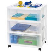 Found it at Wayfair - Wide Plastic 3-Drawer Cart