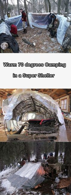 Warm 70 degree Camping in a Super Shelter - Homesteading - The Homestead Survival .Com