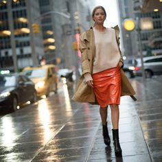 The start of the fall 2017 ready-to-wear season brings the well-dressed to New York City's sidewalks.