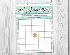 Gold Confetti Baby Shower Bingo Game!