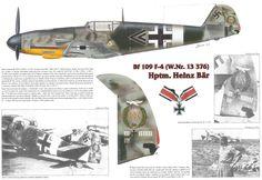 Heinz Bär Messerschmit Bf 109F-4