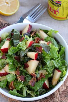 Apple Bacon Salad Recipe : seriously one of the best salad recipes I have.  Love it!