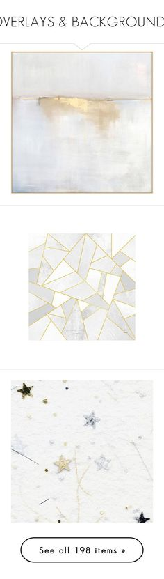 """OVERLAYS & BACKGROUNDS"" by caroline-brazeau ❤ liked on Polyvore featuring home, home decor, wall art, backgrounds, art, painting, pictures, gold home decor, white home decor and abstract wall art"