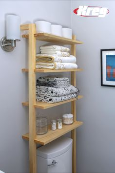 Made using PAR pine that you will find at any Builders Warehouse, this pine shelf unit by Build Something fits nicely above a toilet and provides plenty of shelf space for bathroom essentials. Over The Toilet Ladder, Over Toilet Storage, Toilet Shelves, Bathroom Shelves Over Toilet, Bathroom Storage Shelves, Bathroom Organization, Wooden Bathroom Shelves, Bathroom Beadboard, Bathroom Cabinet With Mirror