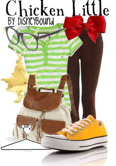 """Chicken Little"" by lalakay ❤ liked on Polyvore"