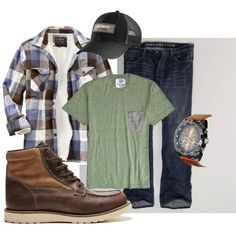 """""""Men's Outdoor Work Outfit"""" by alquix on Polyvore"""