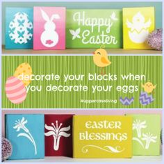 Project idea for you and your kids! #easter #diy #craft #blocks #uppercaseliving #positivewalls