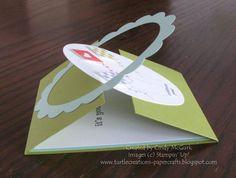 gate fold Card | gate fold latch card technique